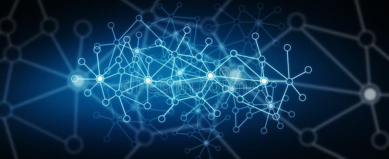 Rede de dados digitais moderna ilustração stock