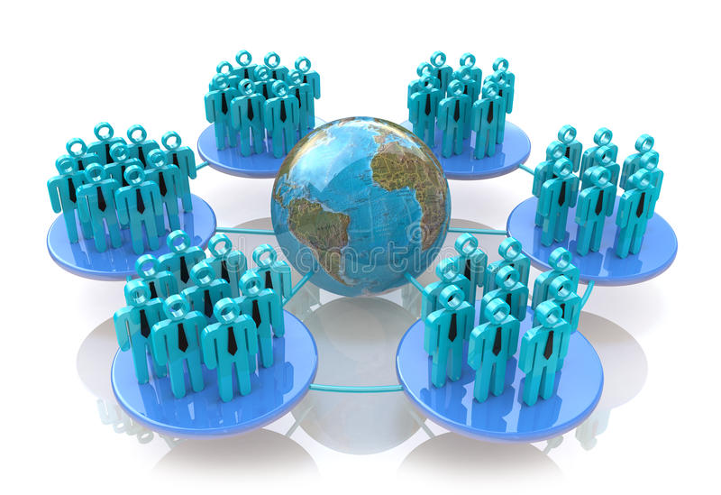 Rede de grupos sociais ilustração stock