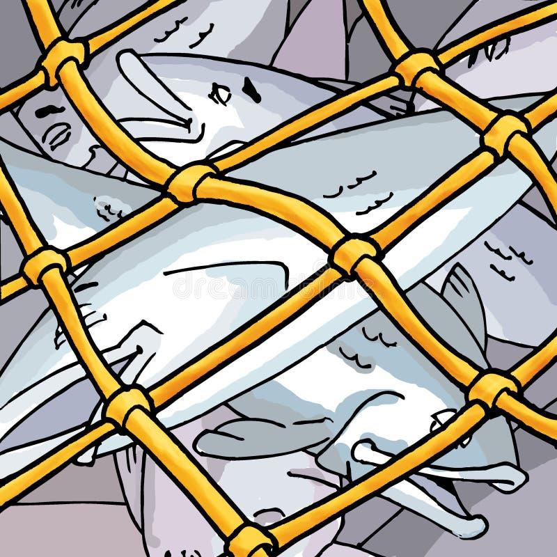 Rede de pesca ilustração do vetor