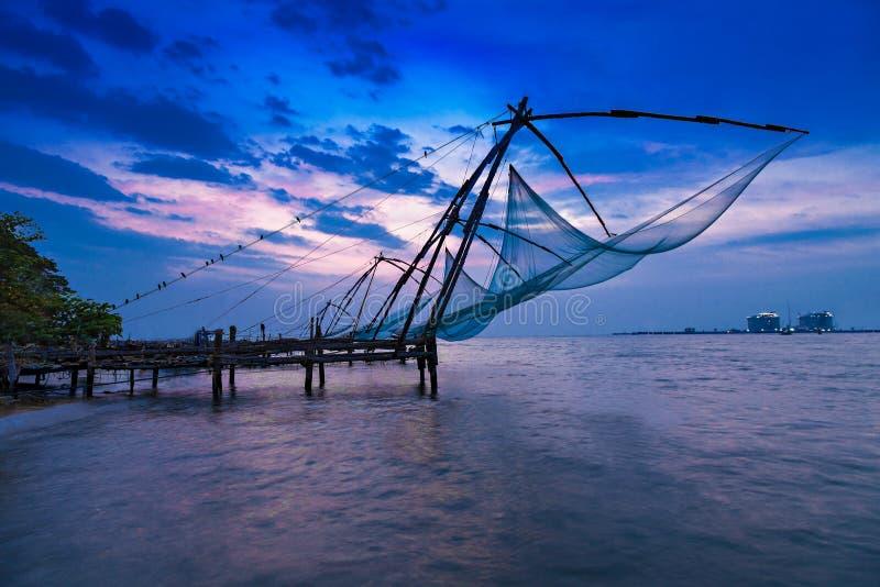 Rede de pesca chinesa fotografia de stock