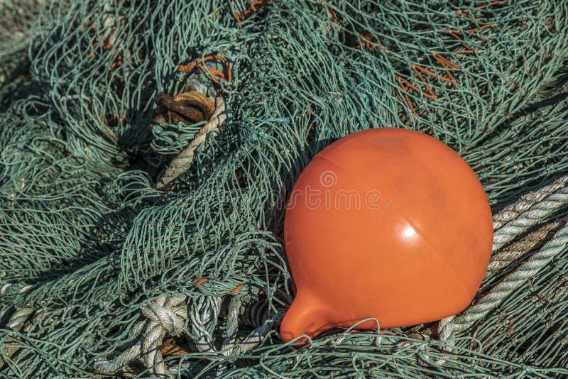 Rede de pesca com uma boia fotos de stock royalty free