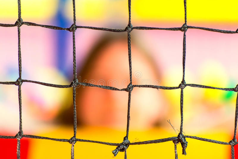 Rede de pesca preta fotografia de stock royalty free
