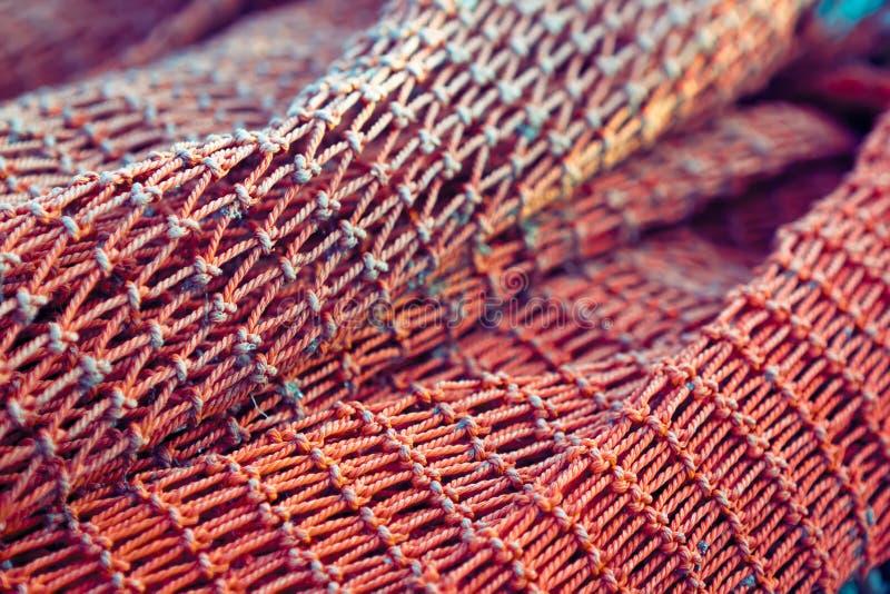 Rede de pesca vermelha fotografia de stock