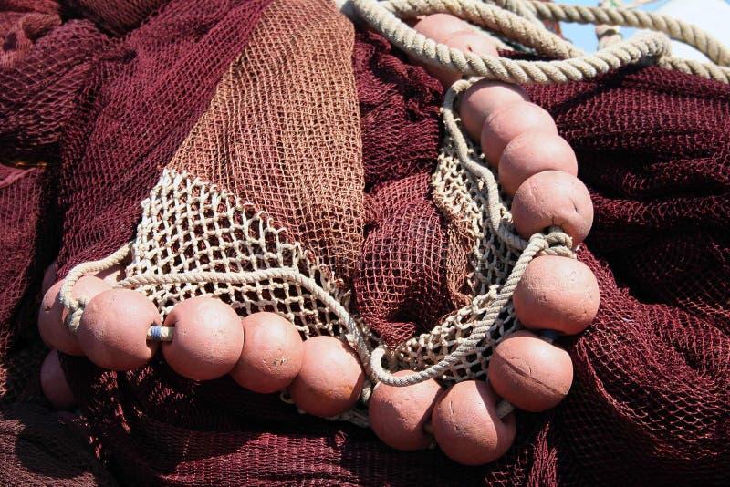 Rede de pesca, vermelha. fotos de stock royalty free