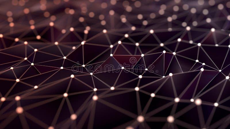 Rede de superfície poligonal fotografia de stock