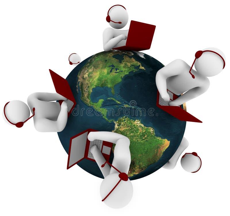 Rede do apoio a o cliente - global ilustração do vetor