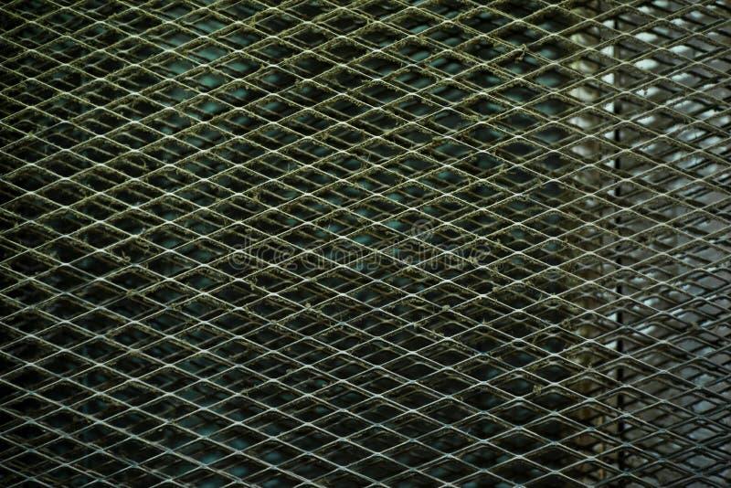 Rede do metal da oxida??o/fundo de a?o da textura do painel do teste padr?o imagem de stock royalty free