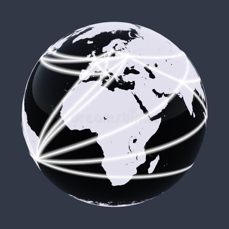 Rede do mundo foto de stock royalty free