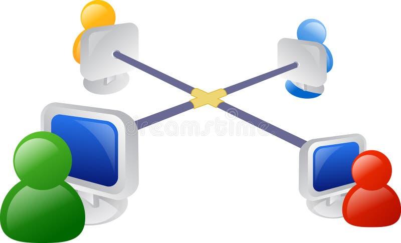Rede do negócio ilustração stock