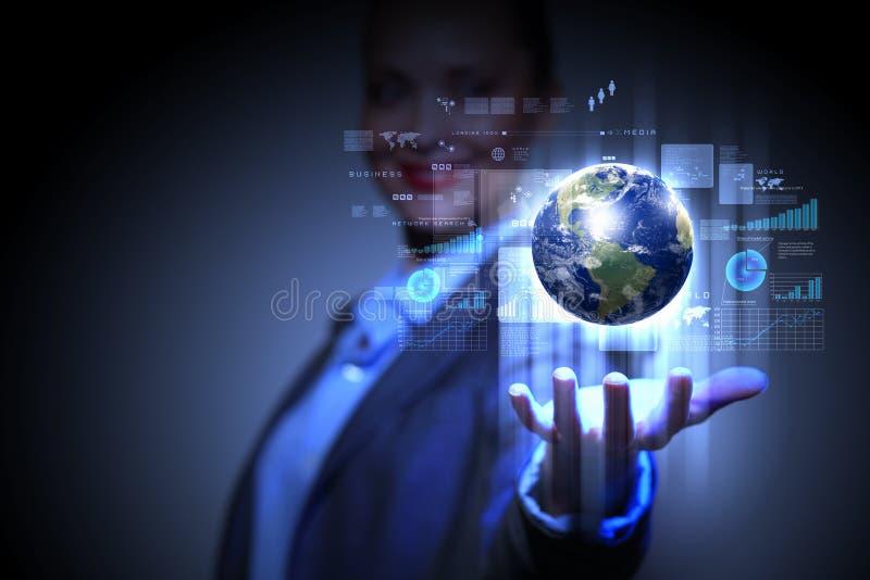 Rede do negócio global foto de stock