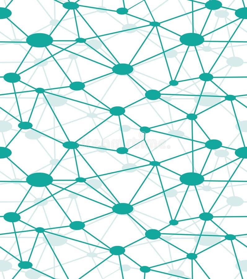 Rede do neurônio ilustração stock