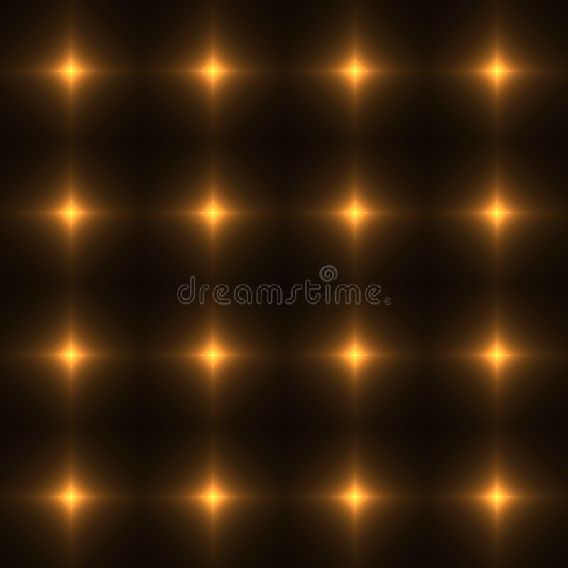 Rede do ouro feita da cruz de brilho - teste padrão sem emenda ilustração do vetor