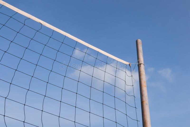Rede do voleibol da praia foto de stock