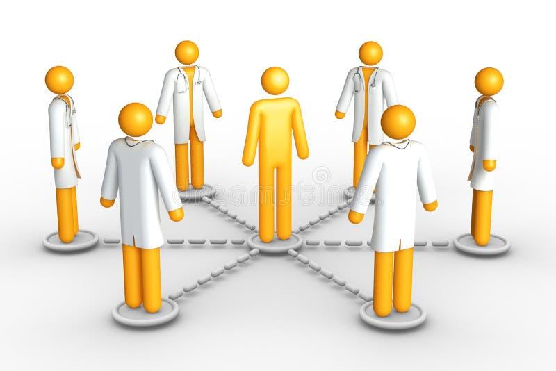 Rede dos cuidados médicos ilustração royalty free