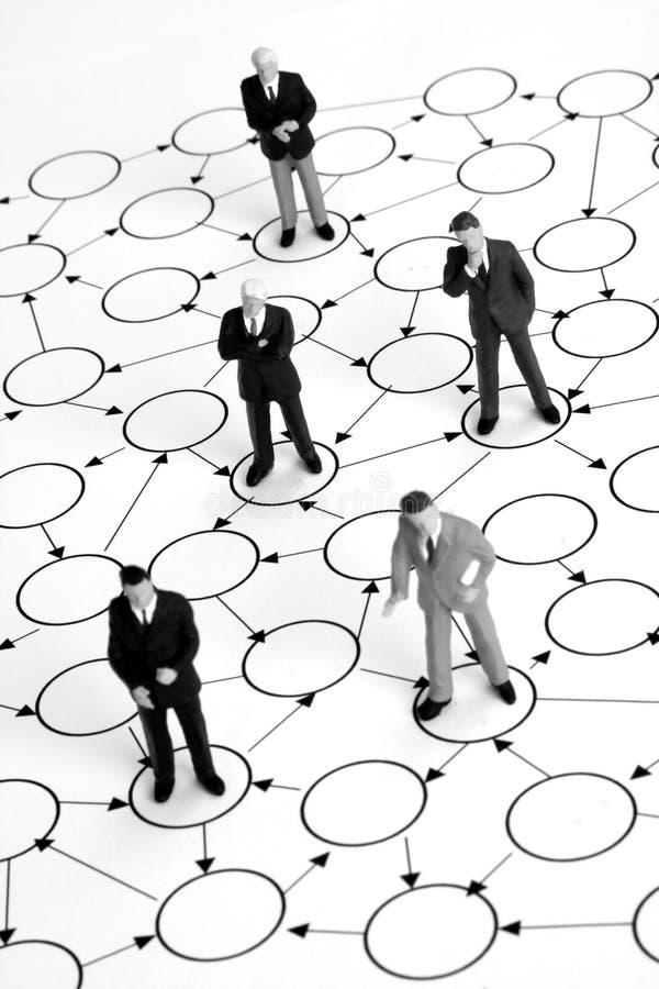 Rede dos homens de negócios imagem de stock royalty free