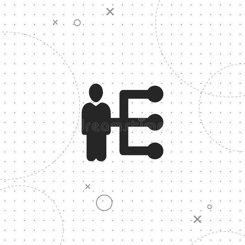 Rede dos povos, o melhor ícone liso do vetor ilustração royalty free