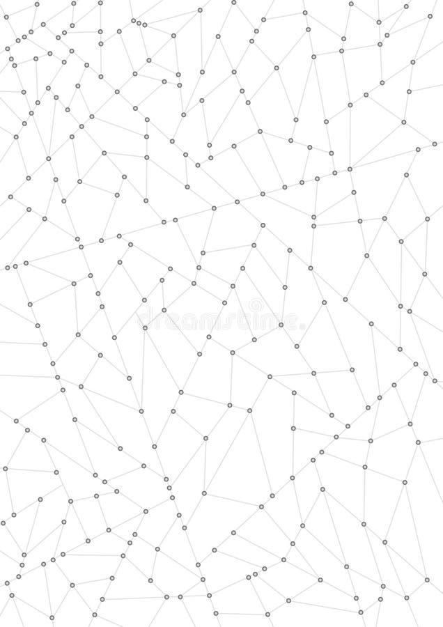 Rede e nós ilustração royalty free