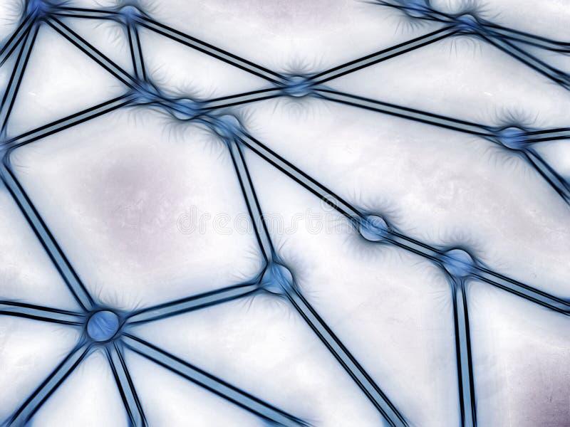 Rede esboçada connosco interconectados ilustração royalty free