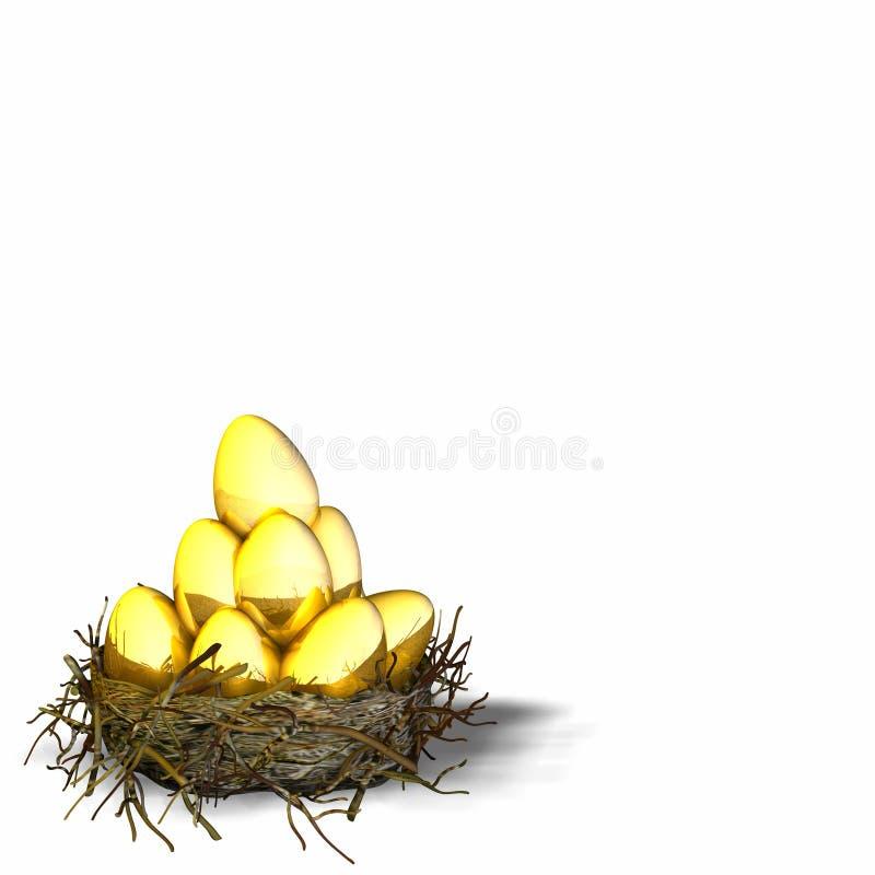rede för 4 ägg stock illustrationer