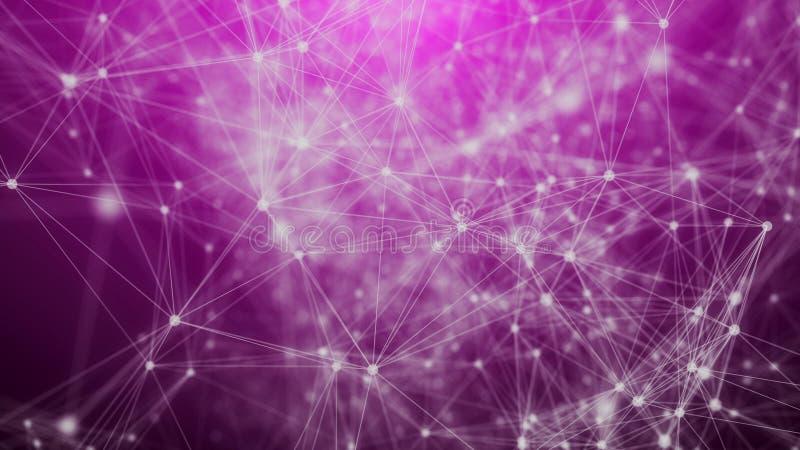 Rede geométrica dos triângulos da ficção científica ilustração royalty free