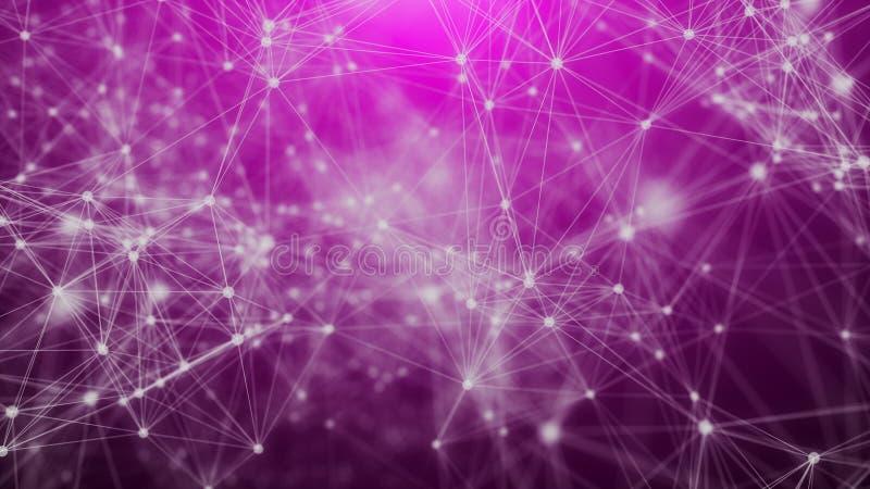 rede geométrica dos triângulos da Olá!-tecnologia ilustração stock