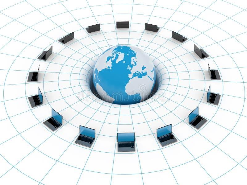 Rede global ilustração stock