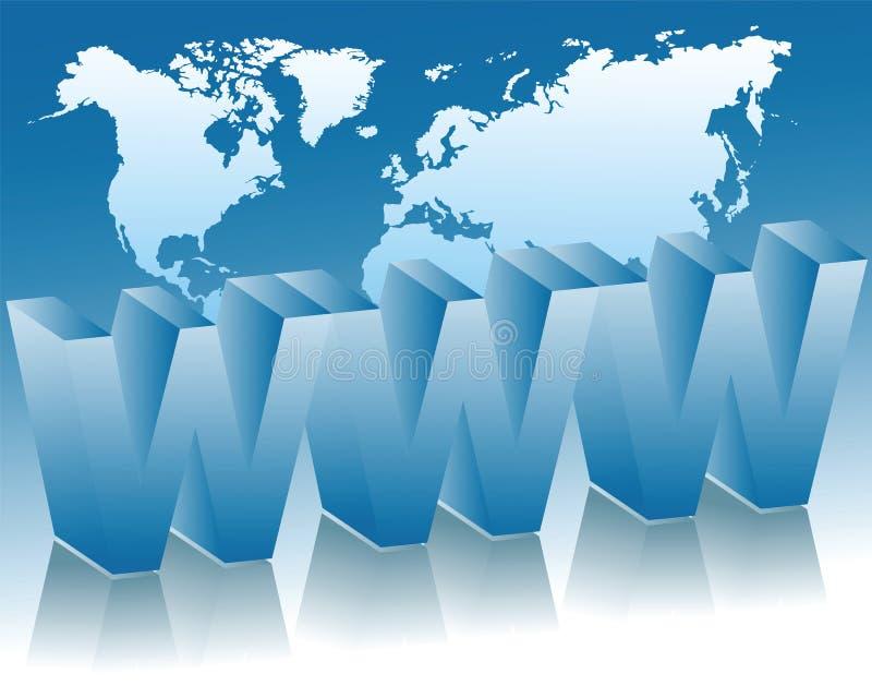 A rede global ilustração royalty free