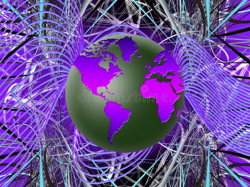 Rede global do mundo (02) ilustração stock