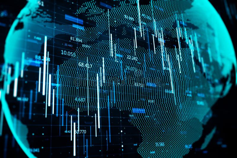 Rede global e para investir o conceito ilustração do vetor