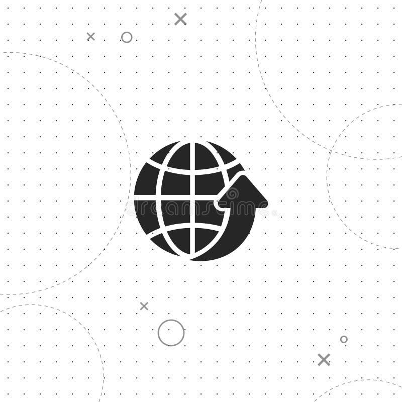 A rede global, transfer?ncia global, vector o melhor ?cone liso ilustração do vetor