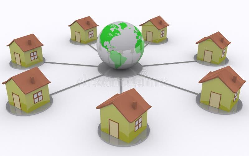 Rede Home ilustração royalty free