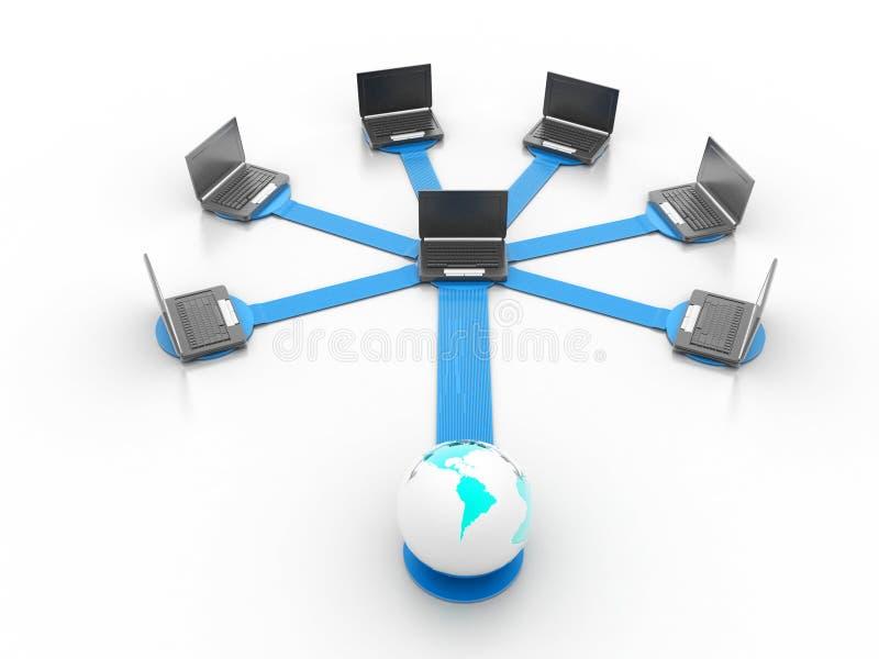 Rede informática imagens de stock royalty free