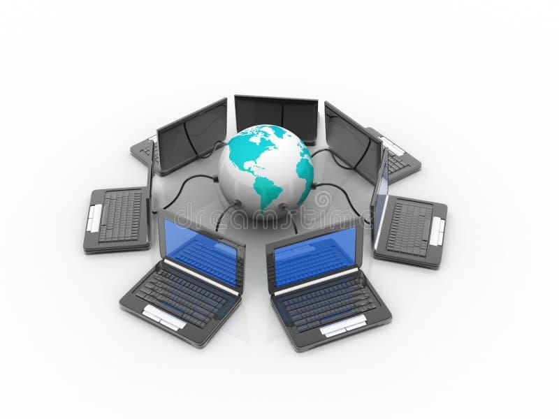 Rede informática imagens de stock