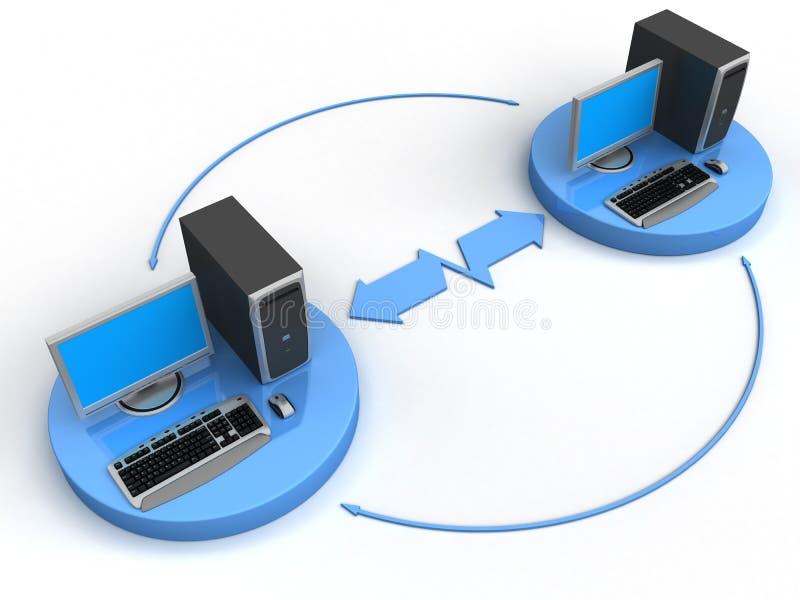 Rede informática ilustração royalty free