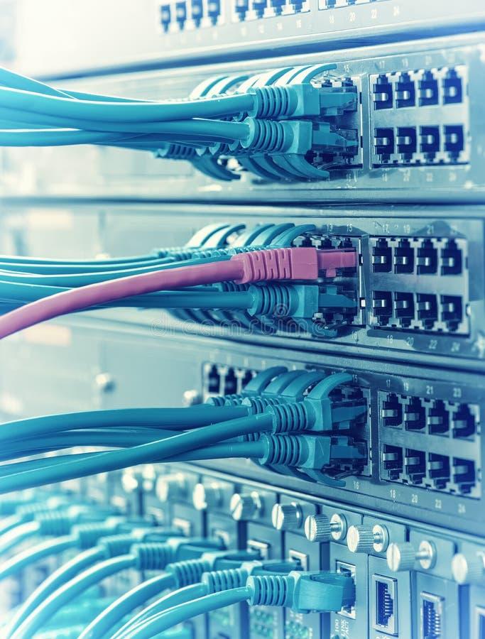 Rede informática da tecnologia da informação, éter da telecomunicação imagem de stock
