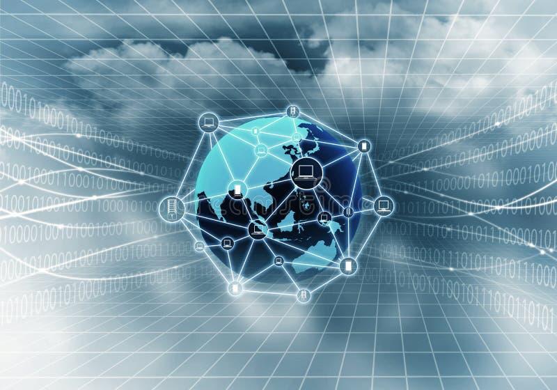 Rede informática do Internet foto de stock