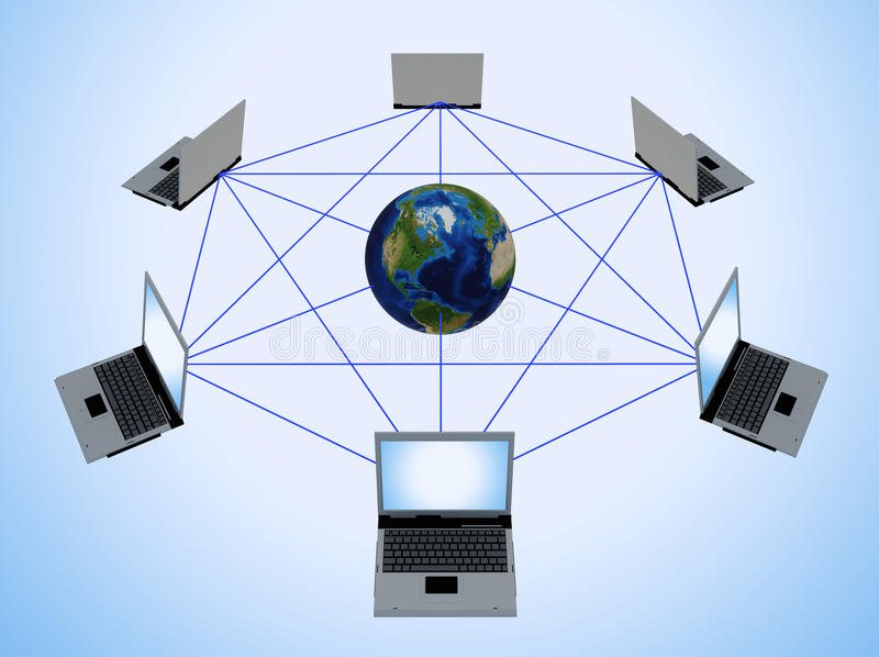 Rede informática global ilustração do vetor