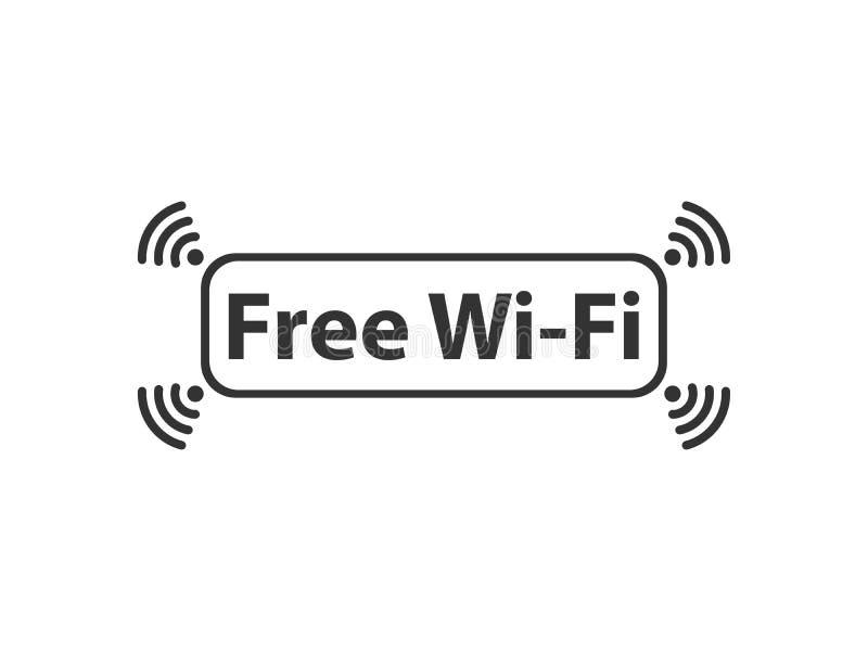 Rede livre de Wifi ilustração do vetor