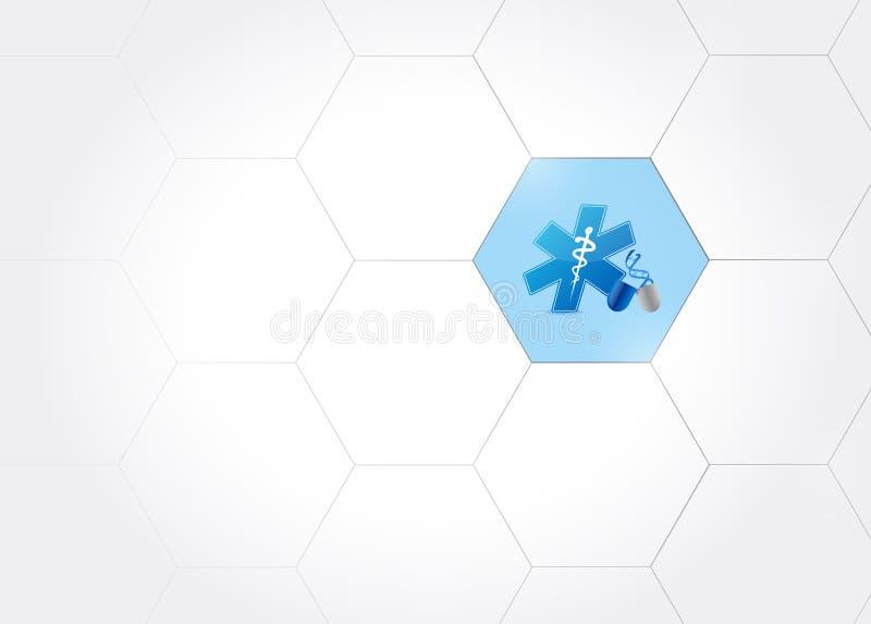 rede médica do bloodline do ADN do símbolo ilustração royalty free