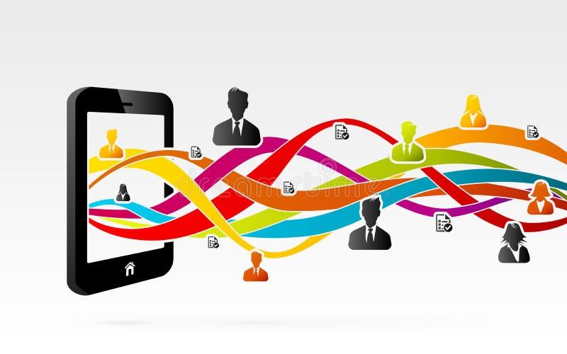 Rede móvel ilustração do vetor