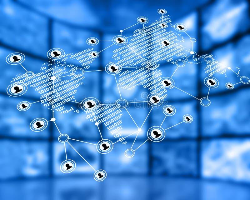Rede mundial ilustração royalty free
