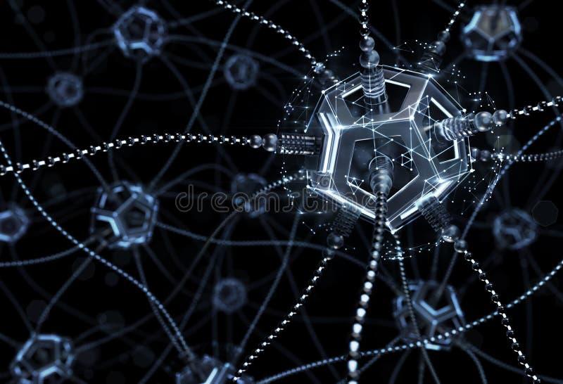 Rede neural artificial imagem de stock royalty free