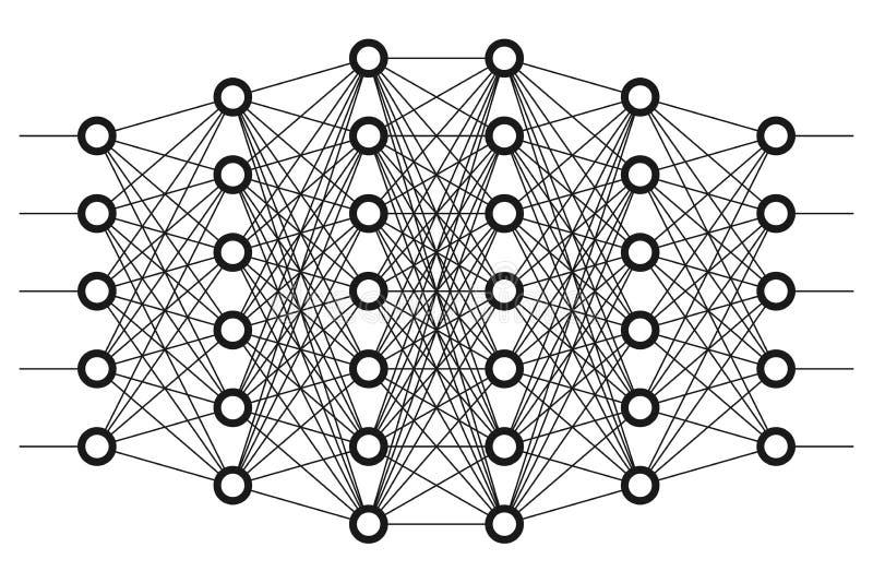 Rede neural Rede do neurônio ilustração stock