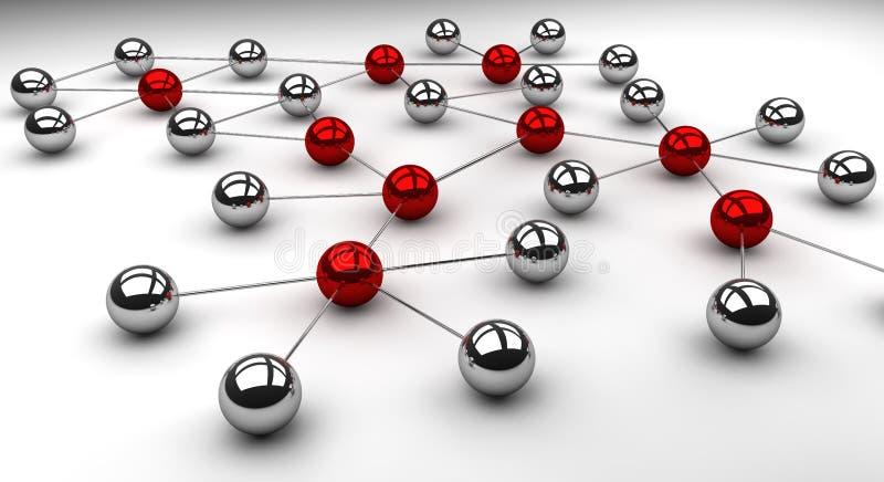 Rede no cromo ilustração do vetor