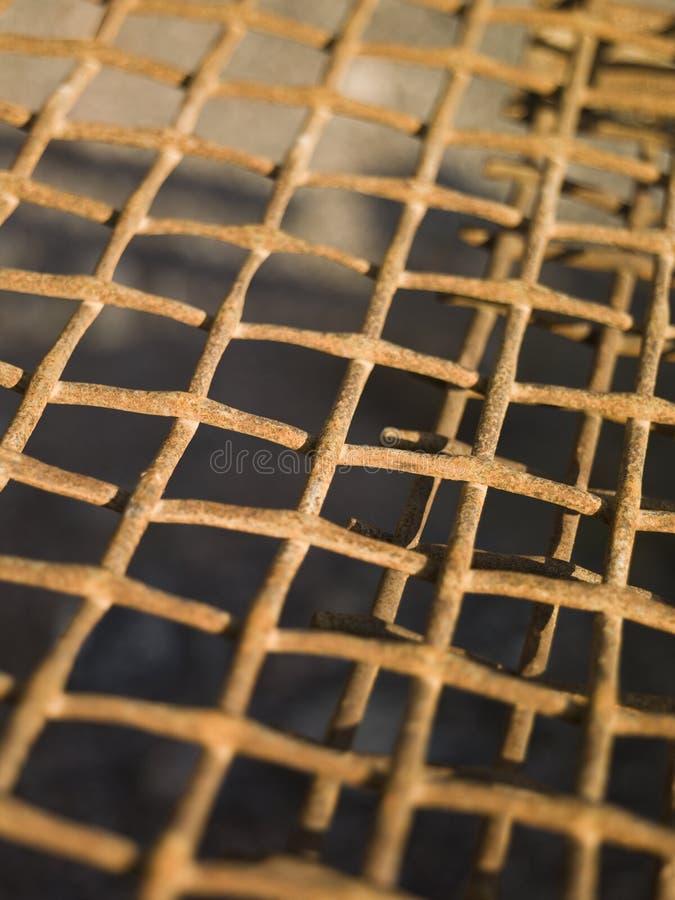 Rede oxidada do metal fotografia de stock royalty free