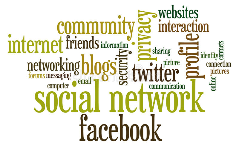 Rede social ilustração stock