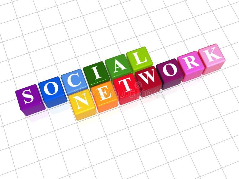 Rede social - arco-íris ilustração stock