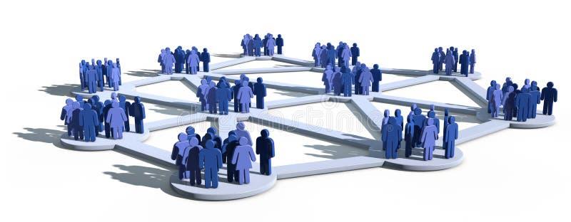 Rede social com grupos ilustração stock