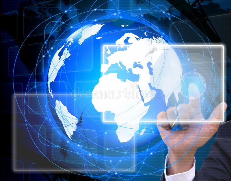 A rede social. Conceito do Internet e da telecomunicação fotos de stock