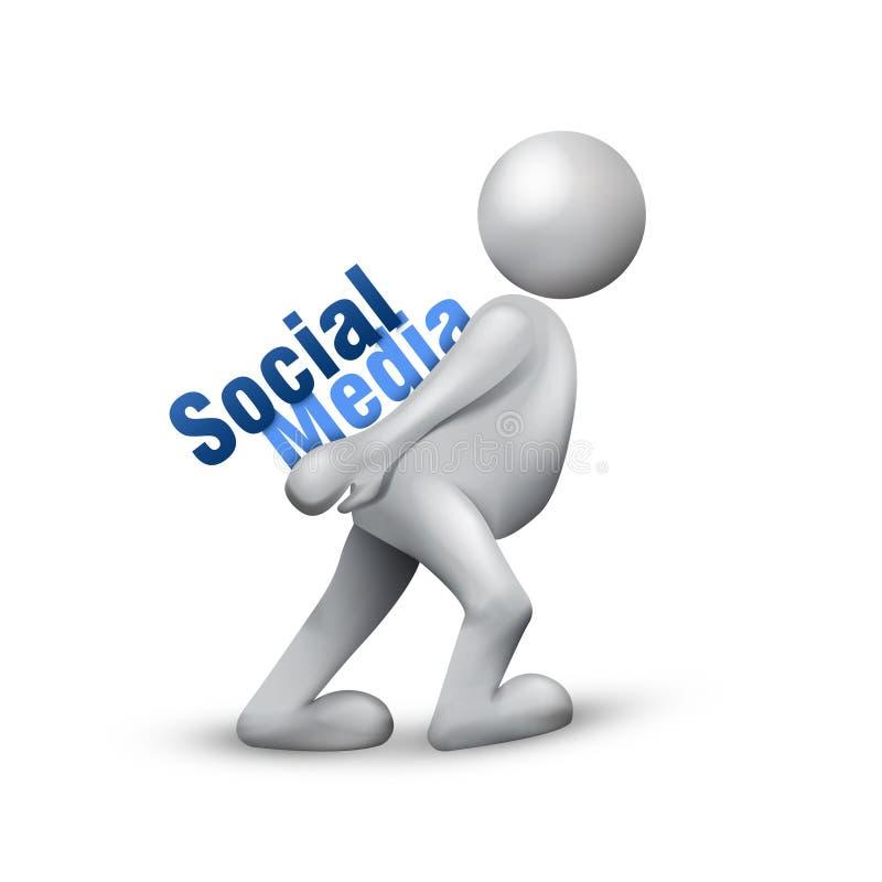 Rede social dos media ilustração stock